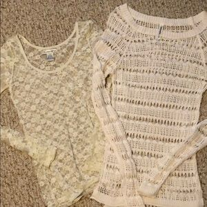 Lace style tops